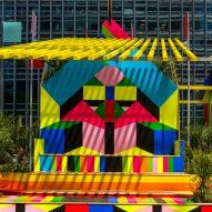 A colourful pavilion