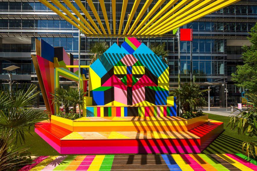 The colourful Sun Pavilion