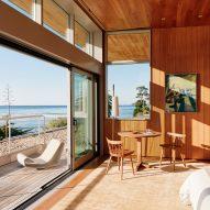 Salvaged wood wraps Surf House in Santa Cruz by Feldman Architecture