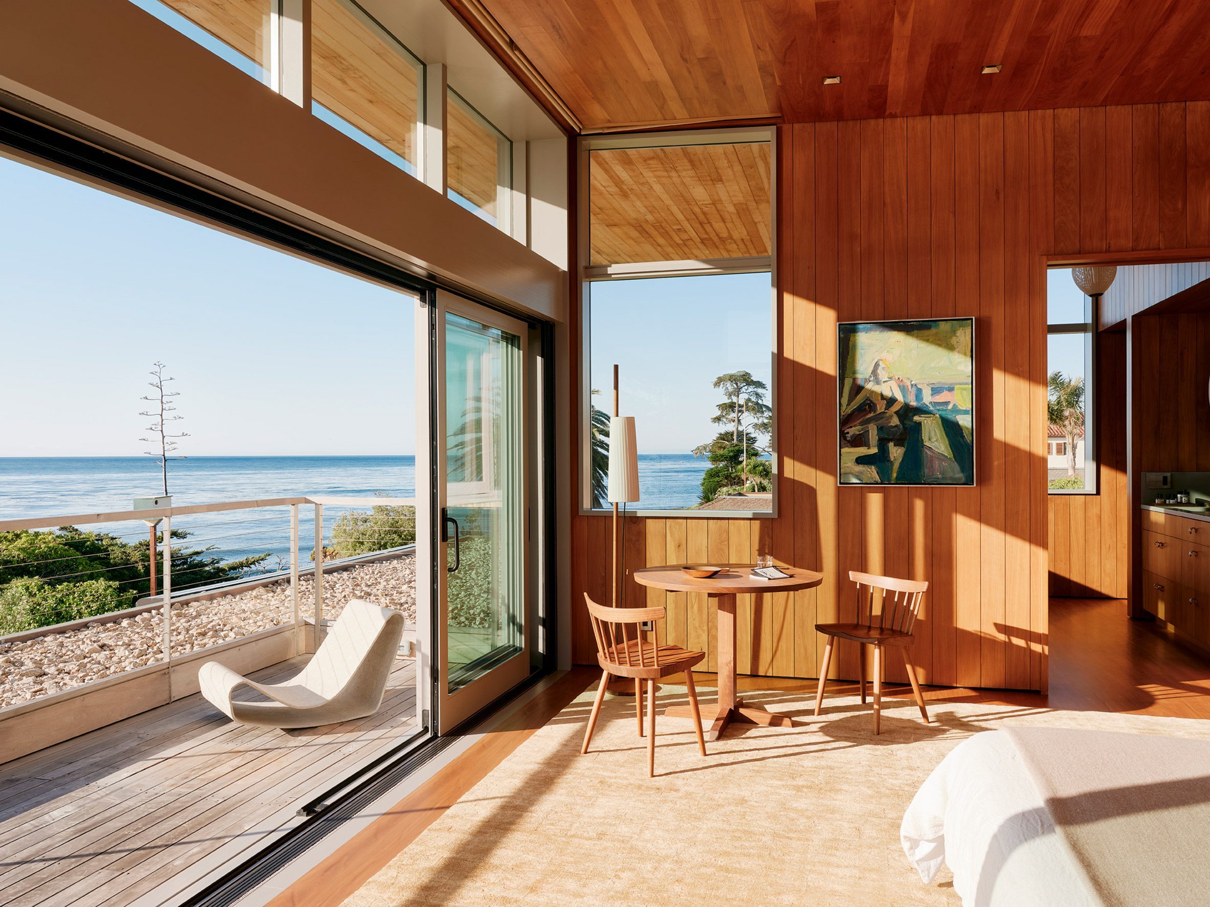 Surf House has panoramic ocean views