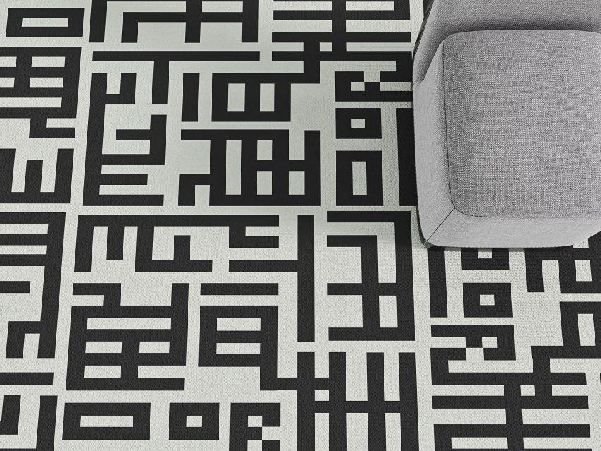 Grid carpet by Talk Carpets