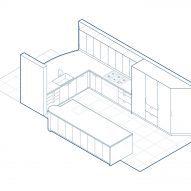 Kitchen axonometric diagram