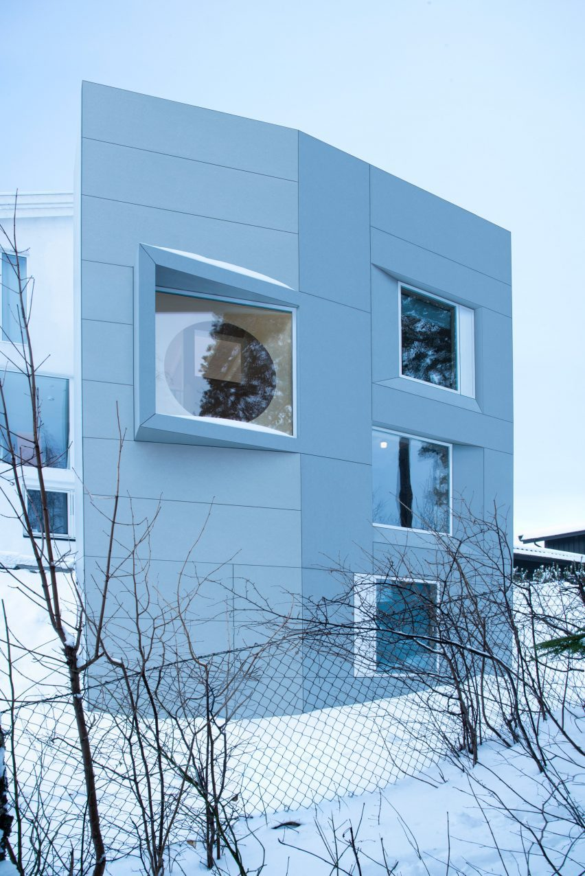 An extension clad in fibre-cement panels