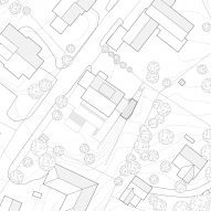 Site plan of Tower Bridge house extension by Resell+Nicca