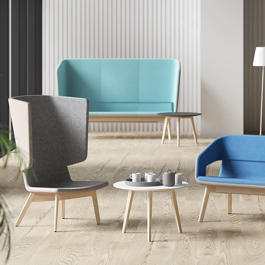 Twist & Sit Soft chairs by Christina Strand and Niels Hvass for Narbutas