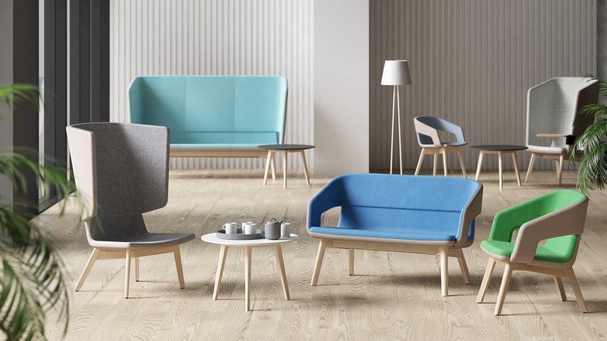 Twist & Sit Soft sofas and chairs by Christina Strand and Niels Hvass for Narbutas