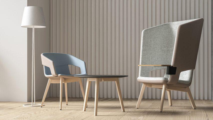 Мягкие кресла Twist & Sit Soft с высокой и низкой спинкой от Кристины Стрэнд и Нильса Хвасса