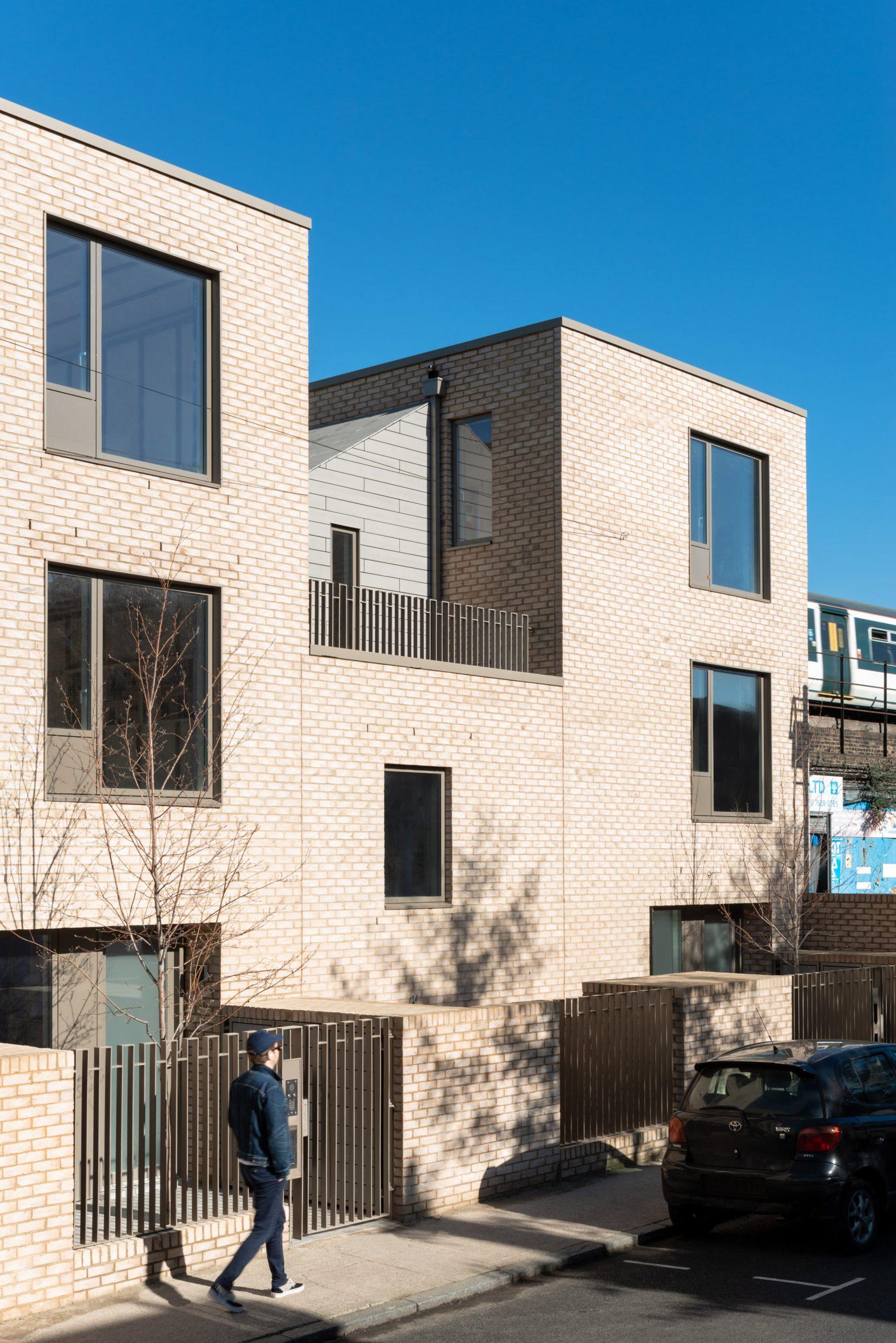 Houses alongside train track in Peckham