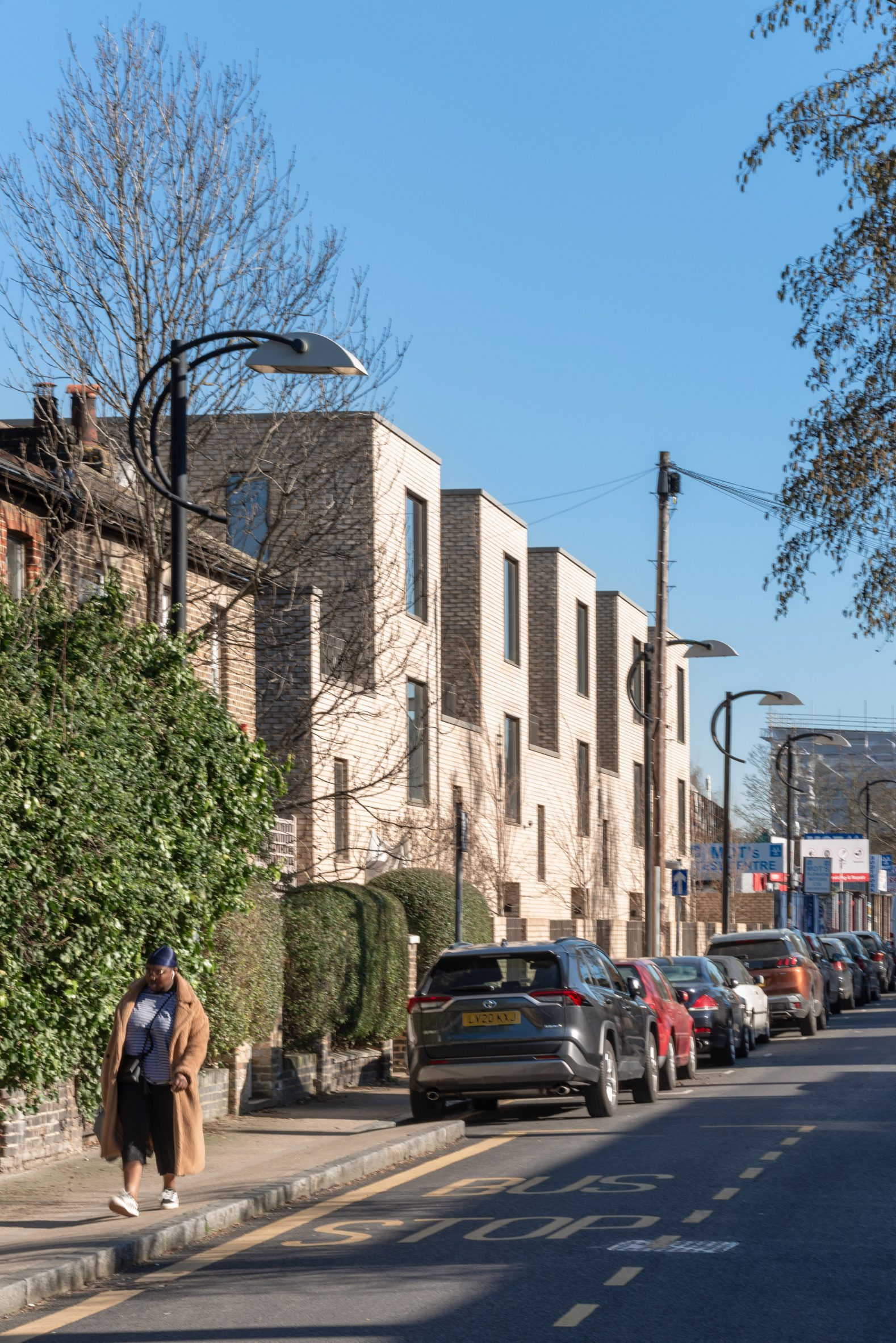 Terrace of houses next to Peckham Rye Station