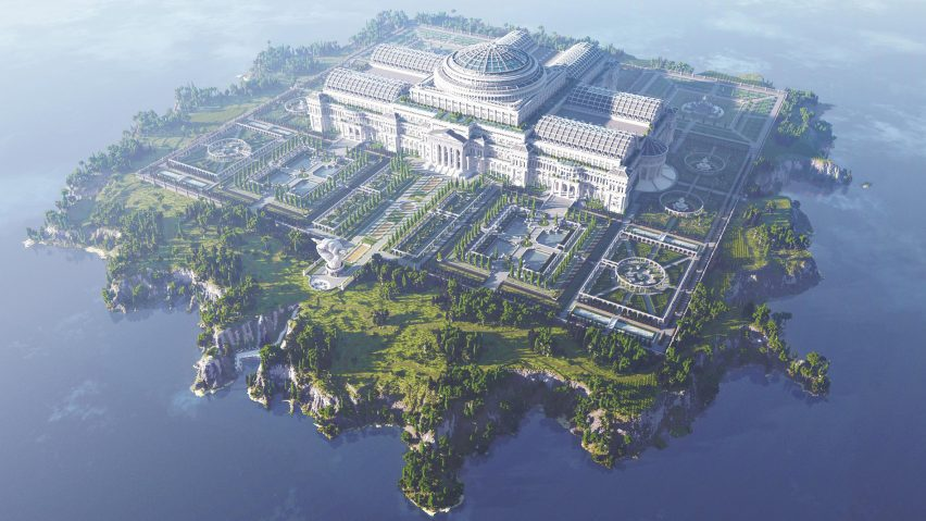 Unceonsored Library by Reporters without Borders is inside Minecraft