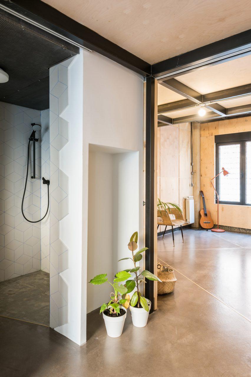 Music studio in a Spanish apartment
