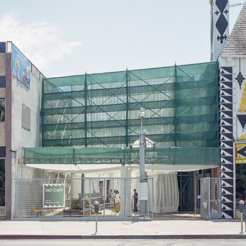 Wilshire Boulevard street view of Veil Craft by Figure at Craft Contemporary