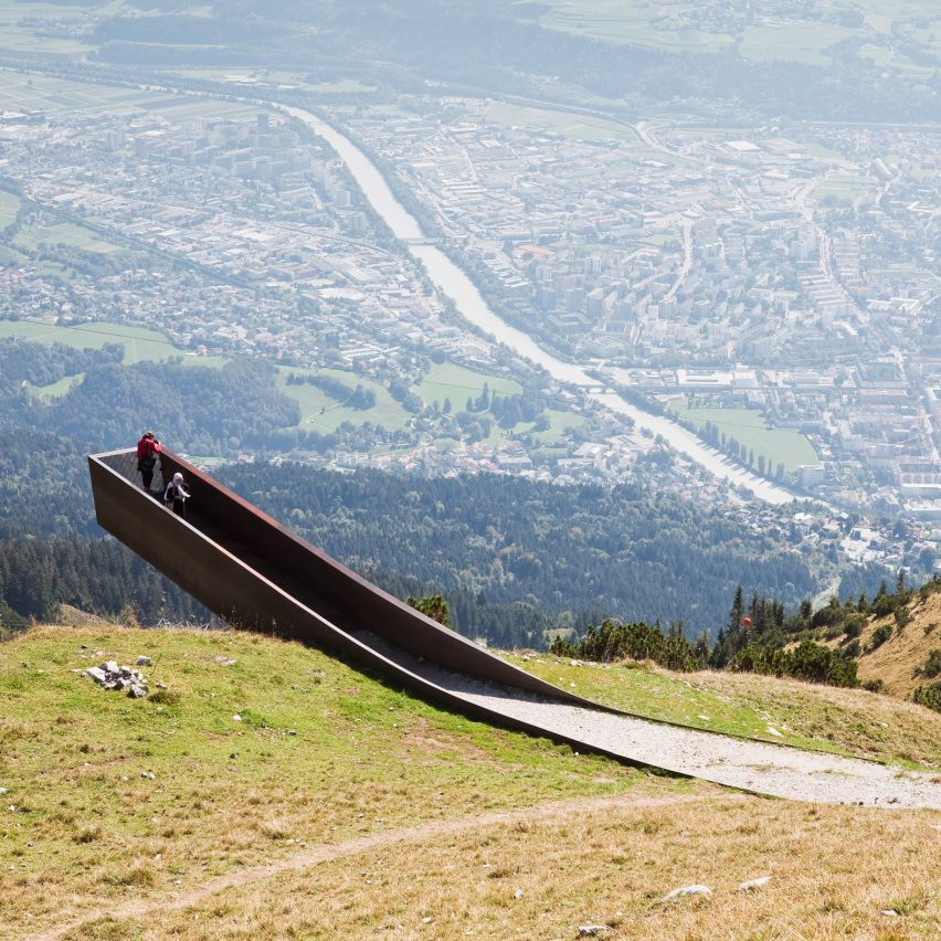The viewing platform is by Snohetta