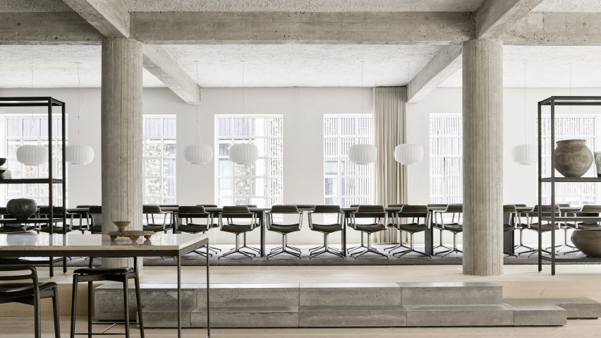Vipp Pencil Factory contains space for 26 diners