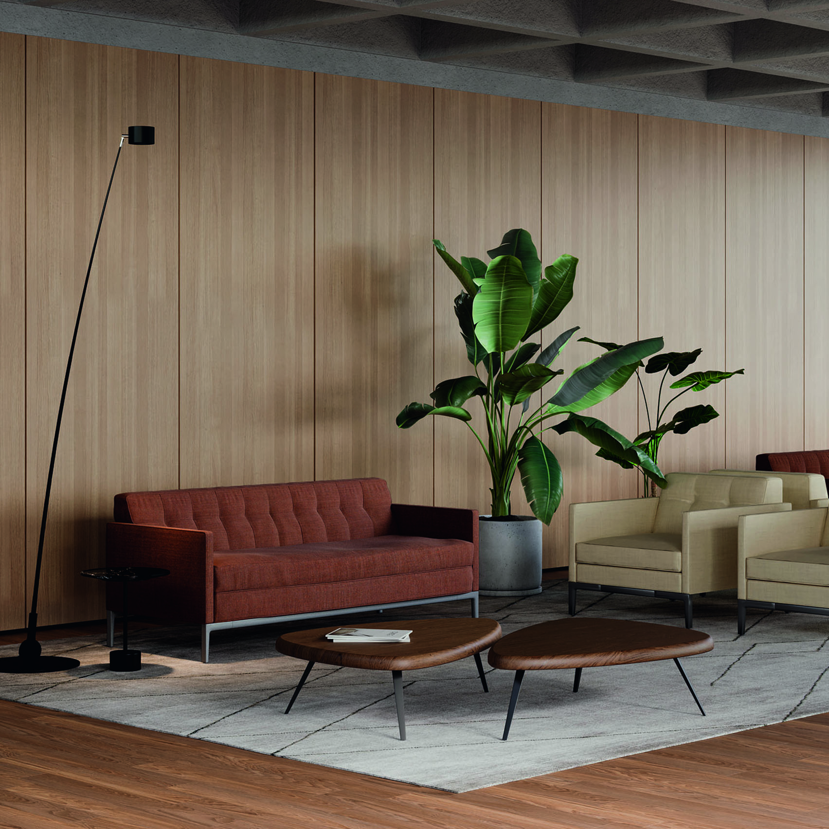 Volage EX-S Slim sofa by Philippe Starck for Cassina