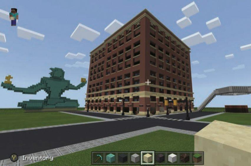 WPP Detroit campus in Minecraft