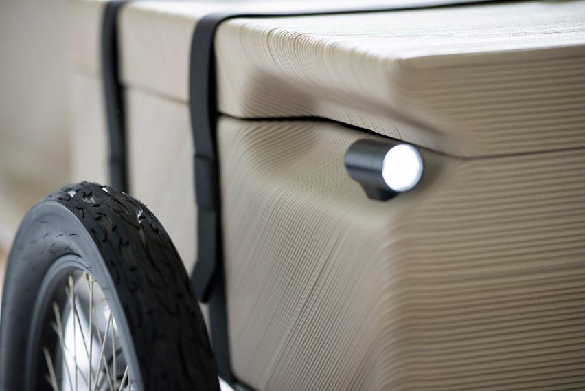Close up of wheel and headlight on ZUV