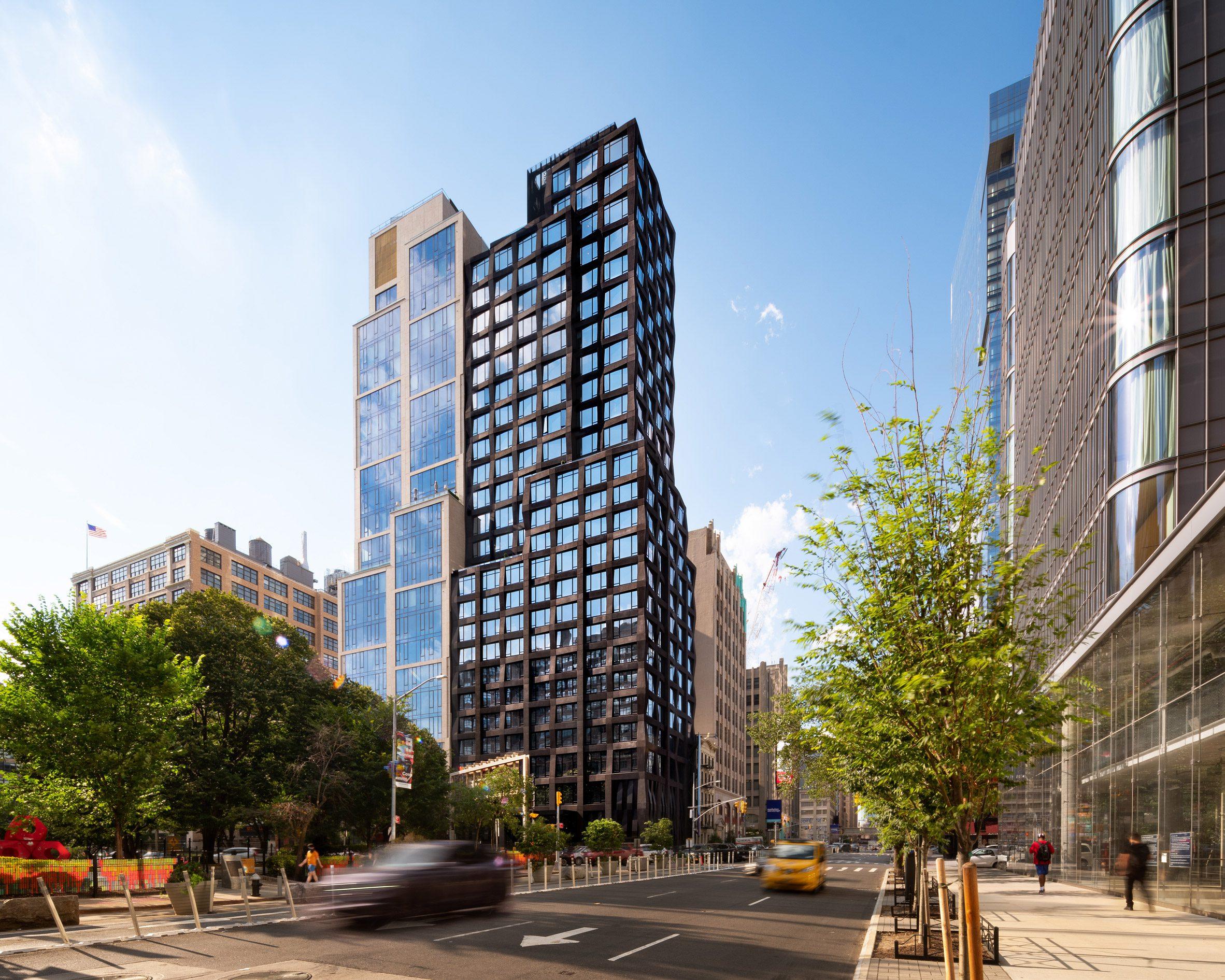 The tower in Manhattan