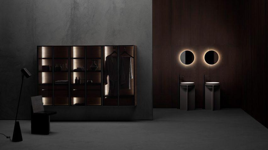 Butler bathroom cabinet by Andrea Federici for Falper