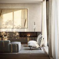 Como Terraces, Living by Gabriel Saunders