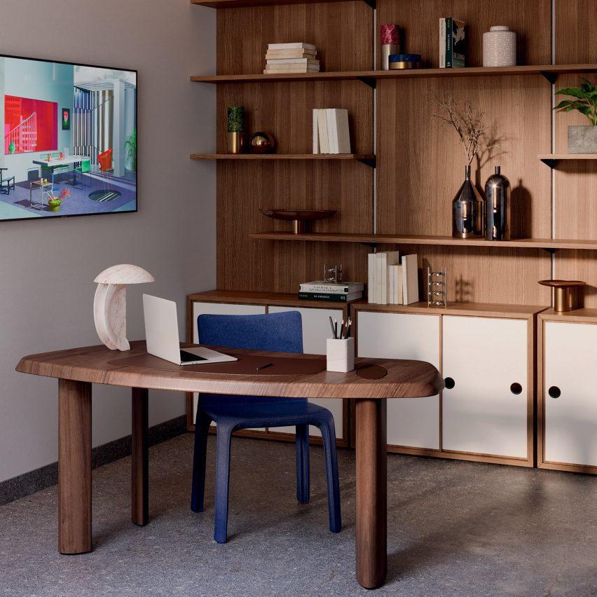 Small Free-Form Desk Pro oleh Charlotte Perriand untuk Cassina