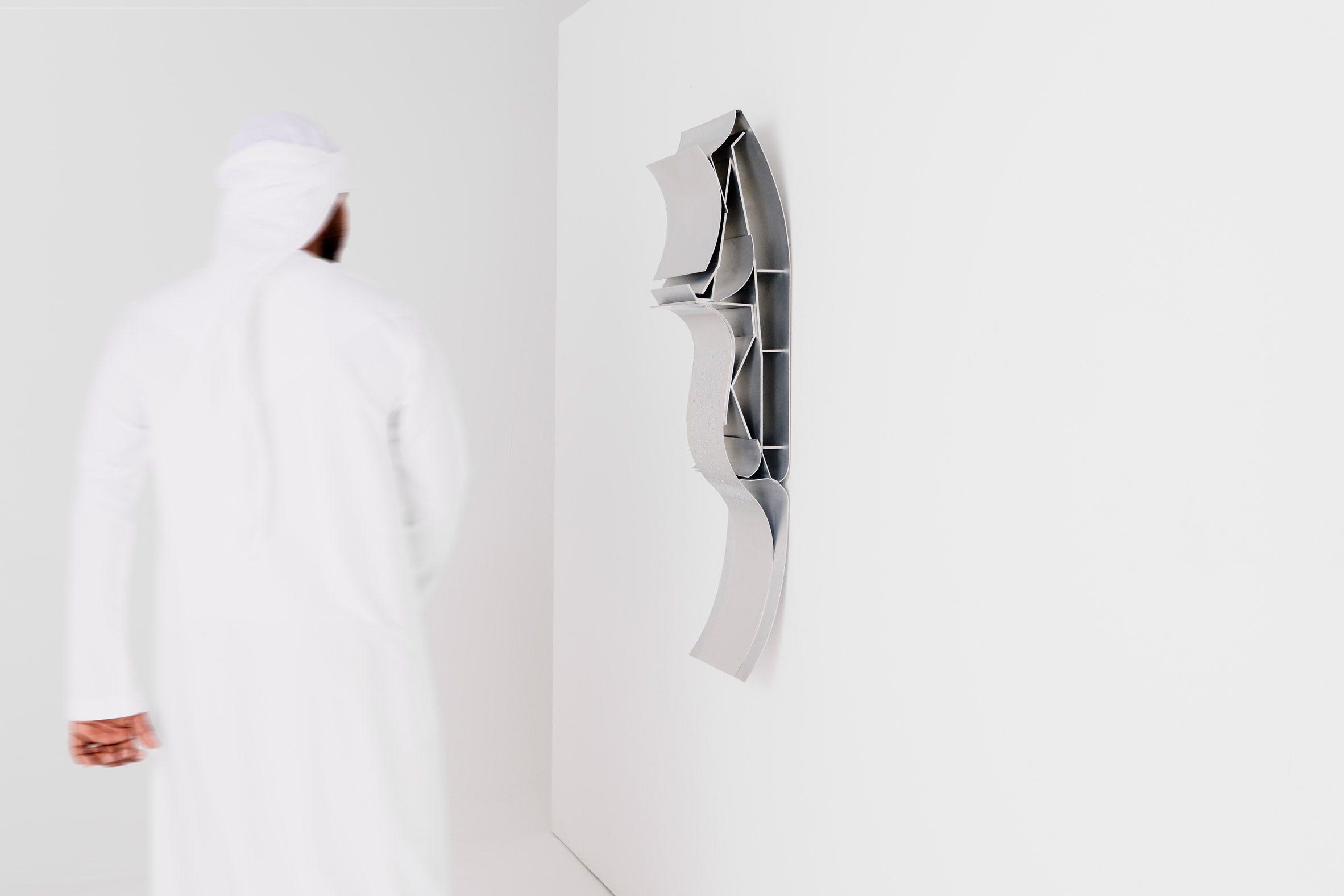 A photograph of a sculpture by a Dubai-based designer
