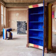 FreelingWaters emblazons 18th-century cabinets with graphic patterns and calligraphy