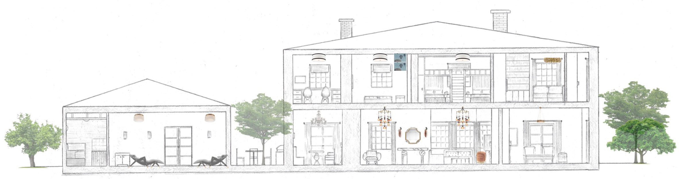 An illustration of a house