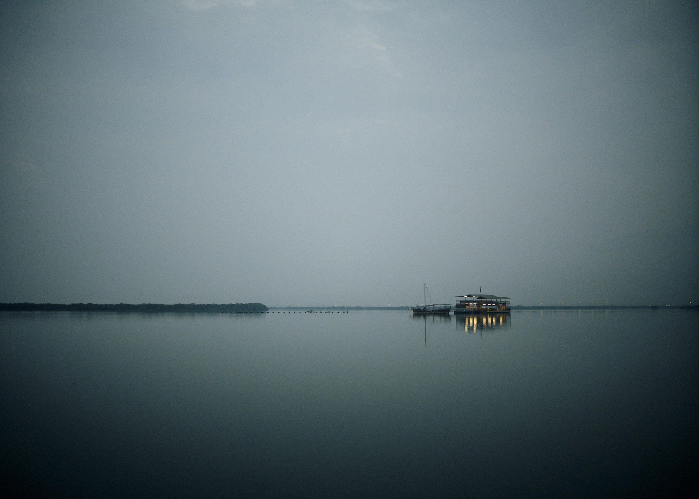 A photograph of the Dubai sea