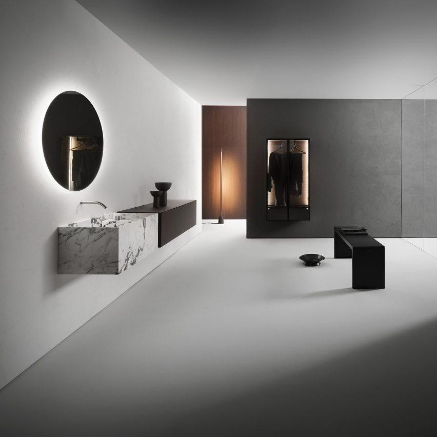 Minimum bathroom collection by Victor Vasilev for Falper