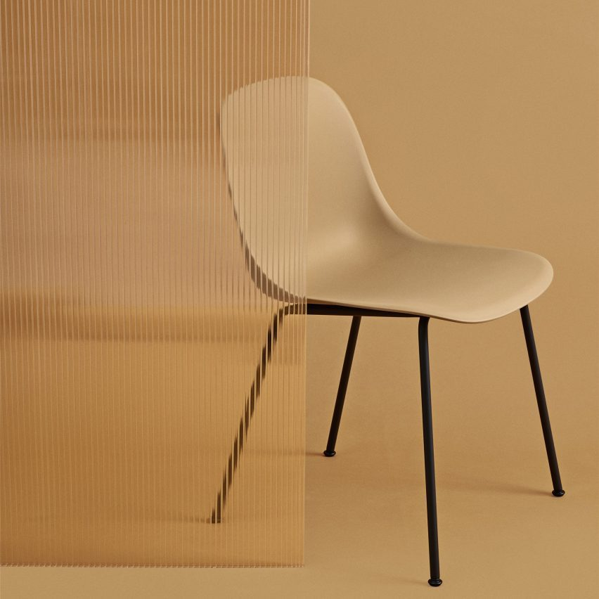 A photograph of a yellow chair