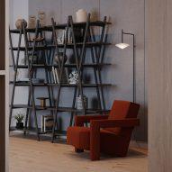 Nuvola Rossa bookcase by Vico Magistretti for Cassina Pro