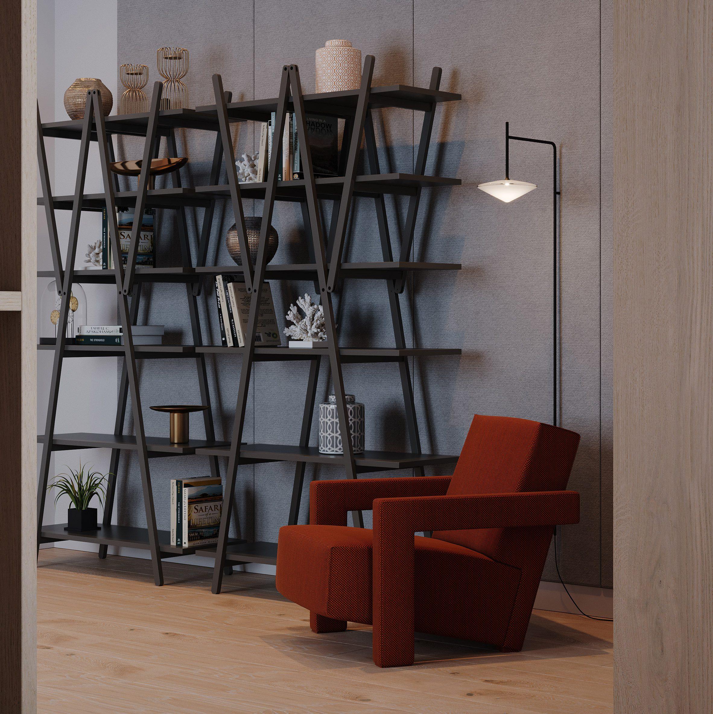 Nuvola Rossa Pro bookcase by Vico Magistretti for Cassina