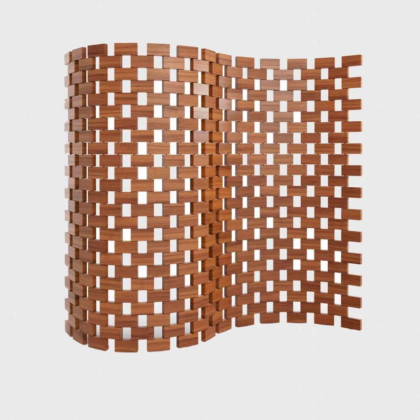 Wooden screen by Cassina