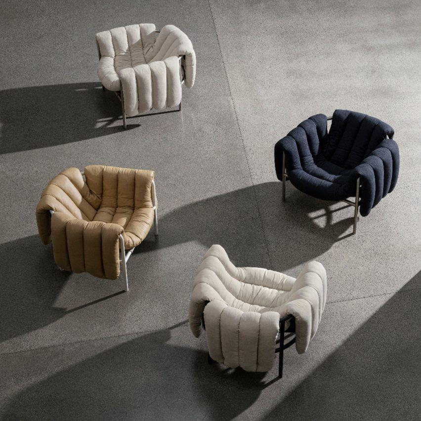Puffy Lounge Chair by Faye Toogood for Hem Design Studio