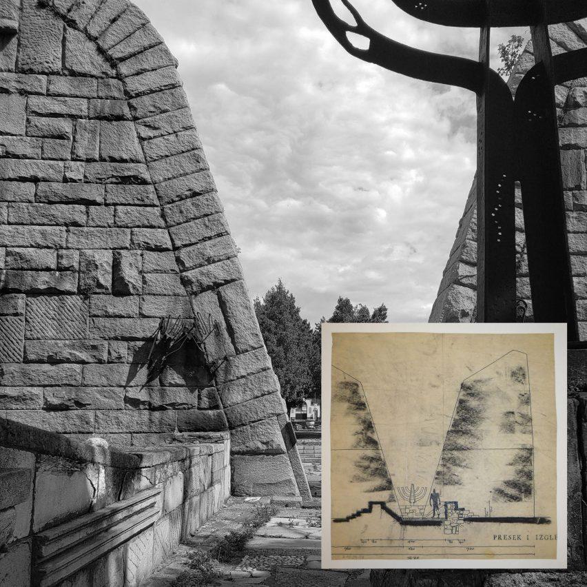 Фотография и рисунок зданий Богдана Богдановича.