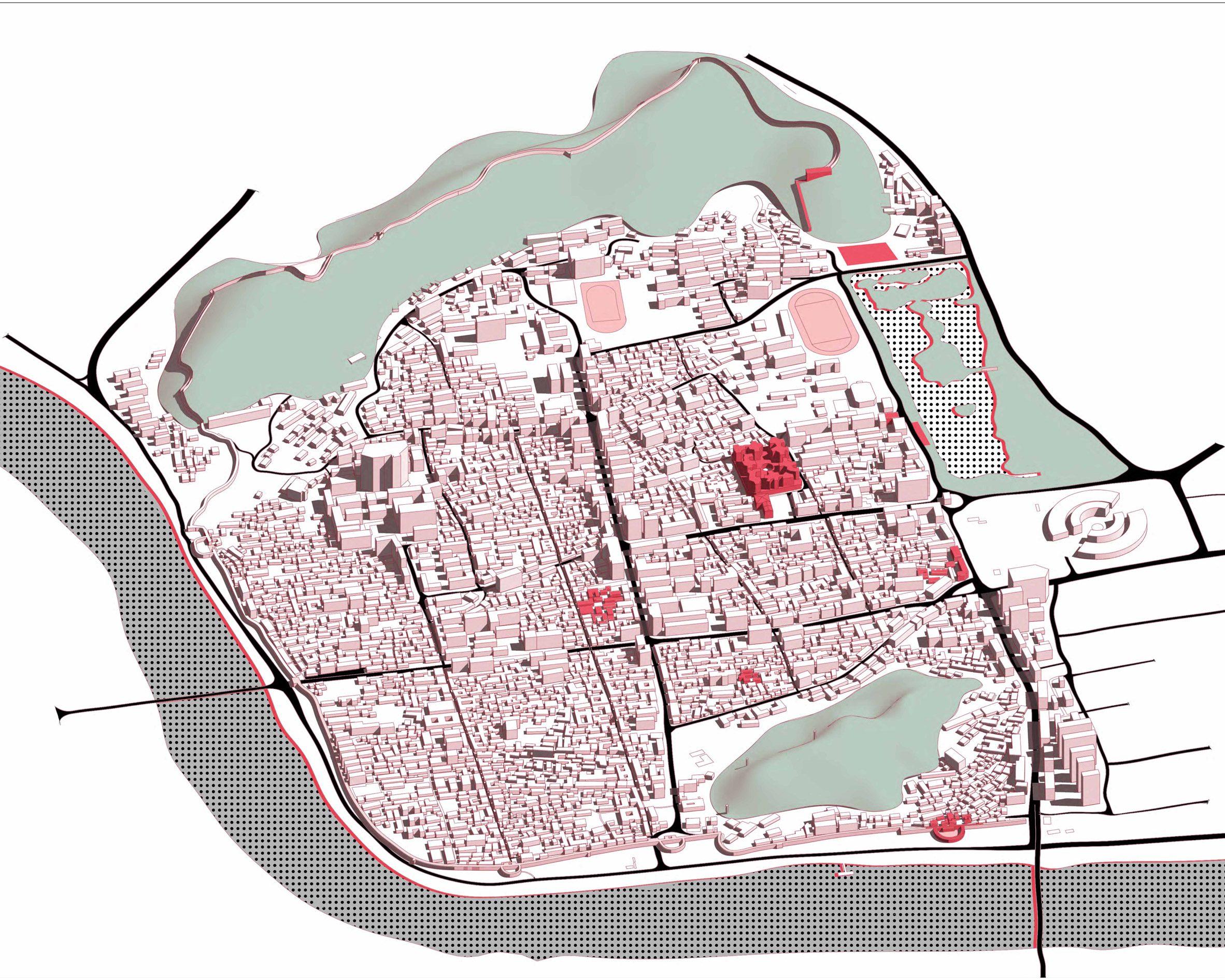 A map of Linhai