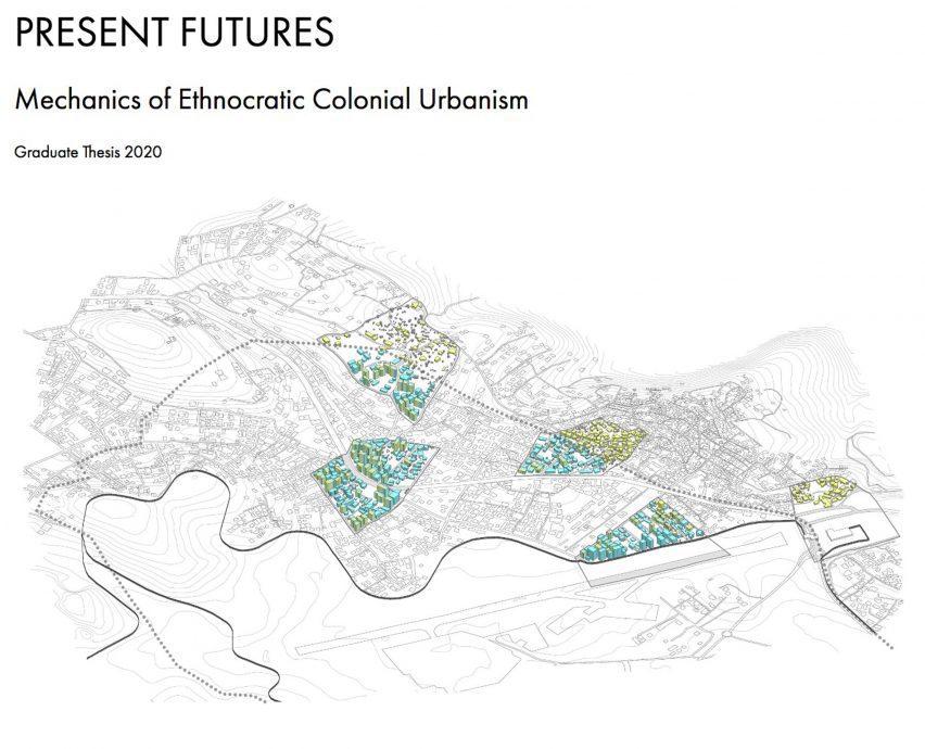 Рисунок Рулы Зухур «Механика этнократического колониального урбанизма»