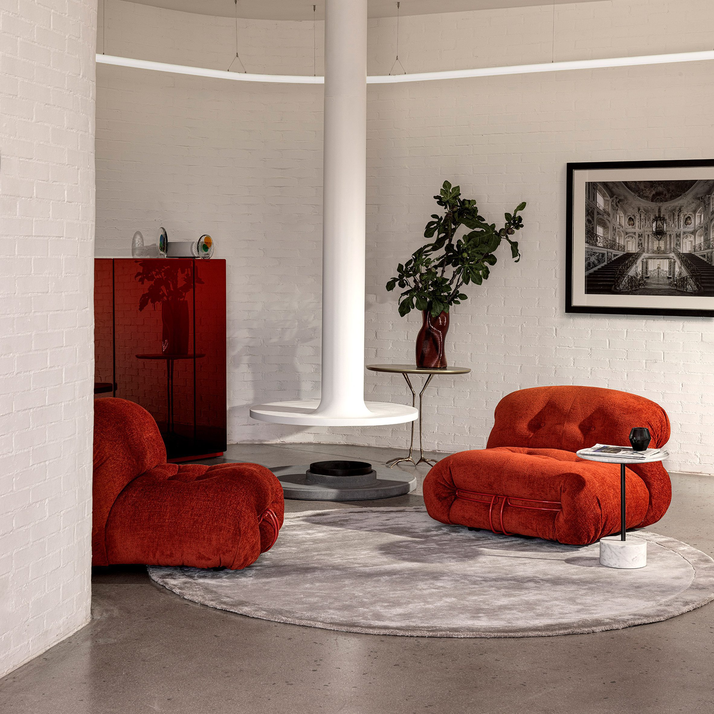 Soriana seating by Afra and Tobia Scarpa for Cassina