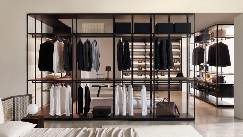 Storage Black Sugi closet by Piero Lissoni for Porro