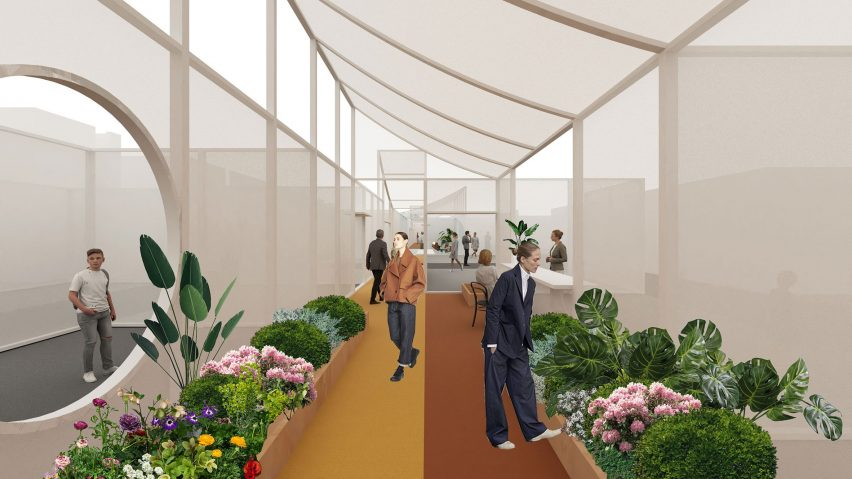 Render of the Sustainable Hutong installation at Design China Beijing 2021