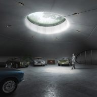 "Unism reveals underground car showroom designed as a ""secret cave-like space"""