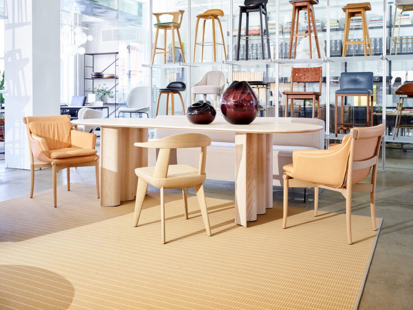 Viva chair displayed in Suite NY's showroom