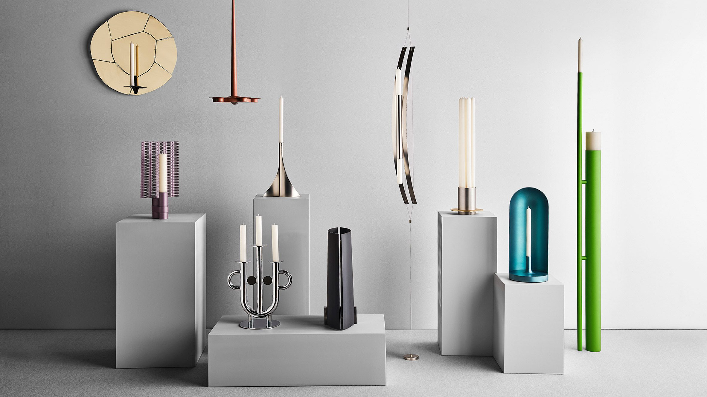 Candleholders by contemporary designers