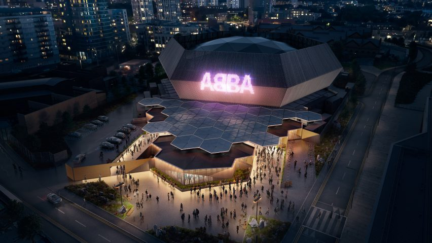A hexaganoal performance venue for ABBA by Stufish
