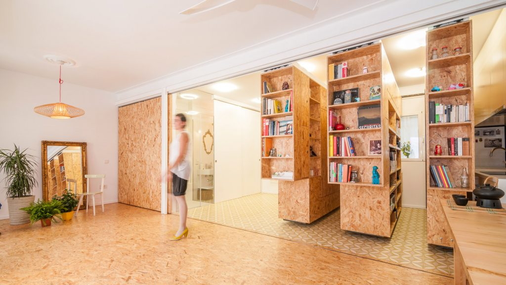 Ten apartments with adaptable and reconfigurable layouts
