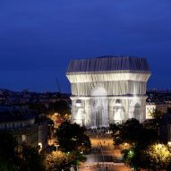 L'Arc de Triomphe Wrapped at night