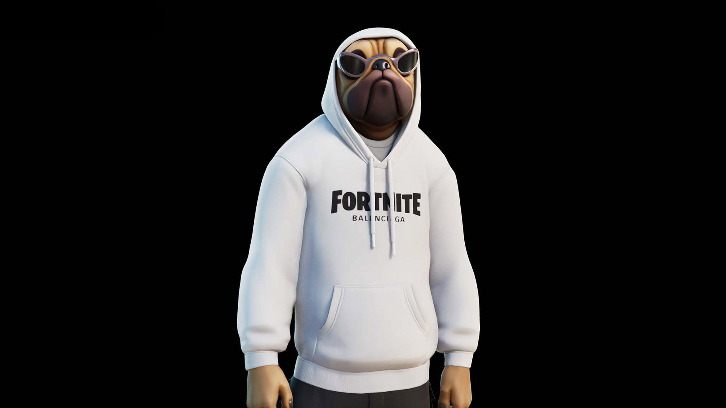 A hoodie with fortnite printed on it