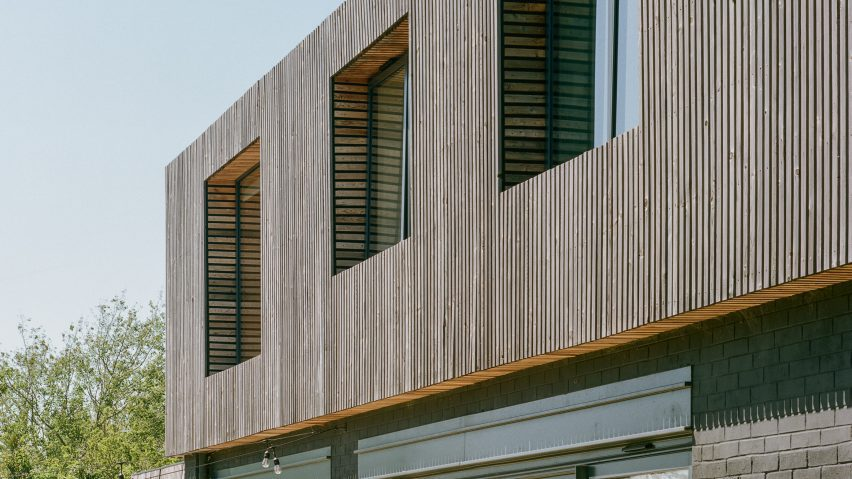 Larch facade of Bawa House by Alter & Company