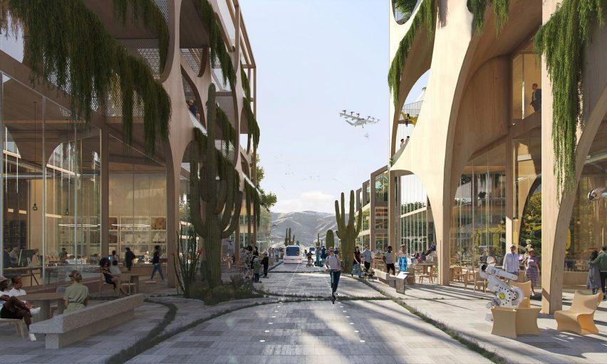 City in US desert designed by Bjarke Ingels